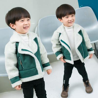 男宝女宝冬装外套1-2-3岁6韩版公主宝宝羊羔绒夹克男女童儿童上衣 发货周期:一般在付款后2-90天左右发货,具体发货时间请以与客服协商的时间为准