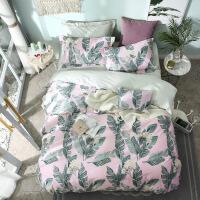 家纺2018新款家纺床上用品 床单款小清新印花全棉四件套