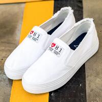 匡王201秋季新款帆布鞋女一脚蹬懒人鞋低帮休闲女鞋学生百搭平底板鞋