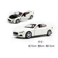 1:32合金汽车模型声光车模仿真金属回力儿童玩具汽车 彩珀玛莎拉蒂乳白色简装