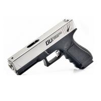 G18电动连发*合金软胶弹改装水弹抢回膛儿童玩具枪 银狐 射程20米左右(送两万水弹) 电动回膛