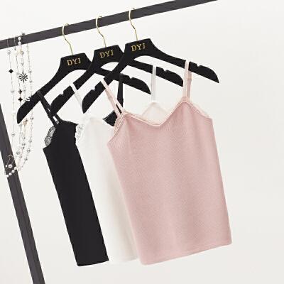 A针织吊带背心女夏新款韩版小清新内搭修身短款打底上衣5109
