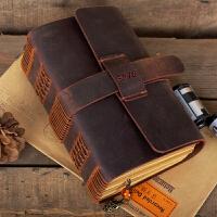 牛皮笔记本日记本复古创意手工定制记事本加厚文具手账礼品