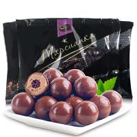 俄罗斯进口零食 黑美人巧克力夹心糖果500g 散装结婚喜糖批发包邮