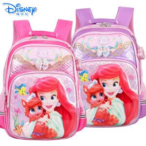 迪士尼白雪公主女童减负书包小学生1-4年级双肩卡通书包PB0374