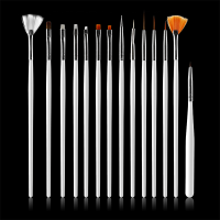 美甲工具初学者光疗拉线指甲油勾花彩绘颜料画笔15支套装全套 十五支笔