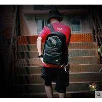 街头百搭包包休闲日韩版涂鸦双肩包背包男士书包学生时尚潮流