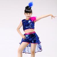 六一爵士舞蹈裙儿童演出服幼儿亮片现代舞街舞表演服女孩