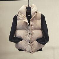 韩观新款2017冬季外套原宿风灯芯绒棒球女短款加厚棉衣女面包服潮