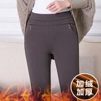 女士打底裤外穿妈妈裤子秋装长裤秋冬季中年人妇女40岁50加绒加厚