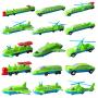 百变海陆空汽车火车飞机轮船 磁性拼插积木磁力拼装益智玩具