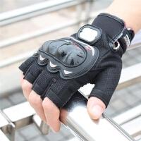 摩托车手套骑士骑行装备越野赛车机车四季男防滑防摔夏季半指手套