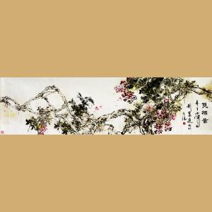 中国书画家协会会员 著名女画家刘翠莲老师作品――双栖图
