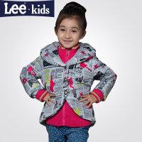 Lee女童棉服 冬装 儿童棉衣加绒外套宝宝棉袄中大童40665