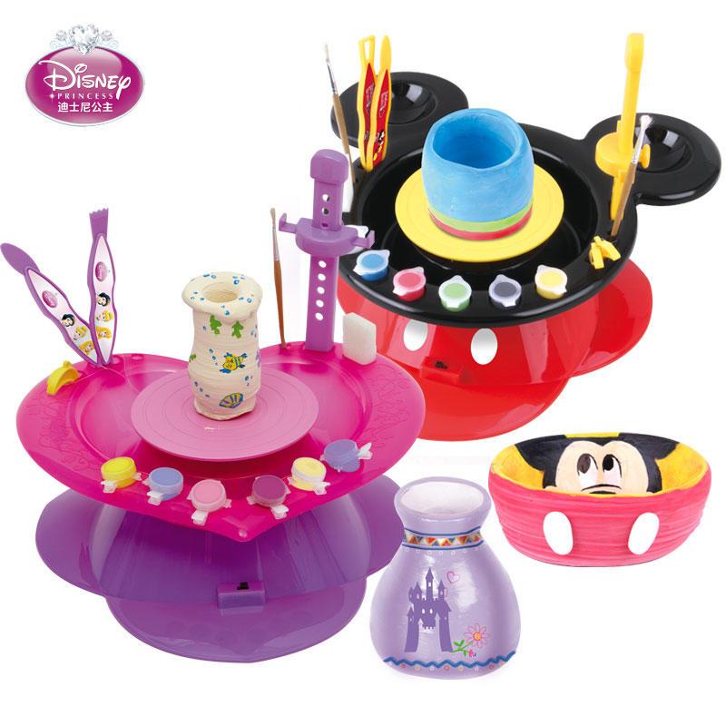 【领券立减50元】Disney/迪士尼 陶艺机儿童陶艺机陶泥机玩具 电动DIY手工陶泥工坊儿童礼物活动专属【领券立减50元】 儿童早教益智玩具大促