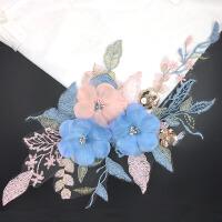 补衣服的图案花朵 补丁贴布贴大号时尚蕾丝贴花补丁刺绣花朵布贴补衣服装饰的图案花