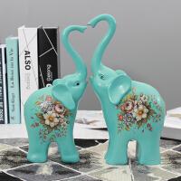 极有家家居北欧创意大象摆件酒柜玄关客厅卧室装饰品结婚礼物