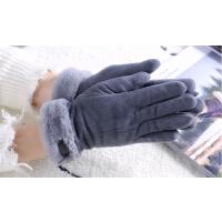 冬天女加绒保暖分指韩版学生触屏骑车防风可爱手套