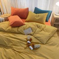 少女心水洗棉床上用品四件套ins北欧风混搭被套床单人宿舍三件套4