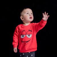 儿童卫衣2018春秋新款圆领套头长袖T恤ins童装卫衣卡通衣服