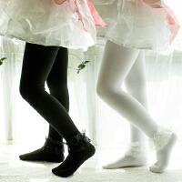 秋冬全棉加厚优质素色保暖舞蹈袜花边连裤袜