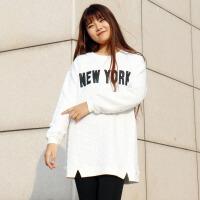 200斤2018春装新款200斤韩版加厚潮保暖字母卫衣