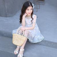 女童连衣裙新款韩版夏装纱裙儿童装夏季公主裙中大童洋气裙子