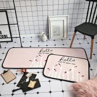 网红少女地垫粉色长条门垫床边垫地垫卡通防滑脚垫飘窗垫 50x170cm 单个