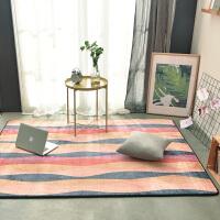 加厚法莱绒可爱地垫毛毯宿舍沙发瑜伽垫客厅茶几卧室床边地毯 花色 X-韵律