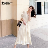 七格格很仙的法国小众连衣裙女气质显瘦2019新款夏季中长款裙子潮