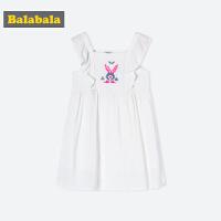 【�M100�p50】巴拉巴拉童�b女童�B衣裙小童����裙子夏�b新款�和��o袖甜美裙