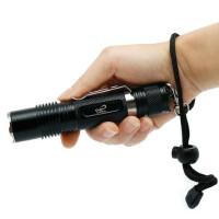 强光手电户外骑行L2远射充电18650 便携泛光型强光LED手电 支持礼品卡支付