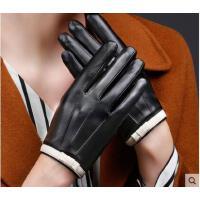 美观大方韩版蝴蝶结女士触摸屏手套皮手套女修手短款加绒加厚保暖