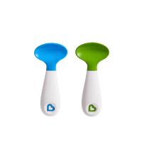 【当当自营】满趣健(munchkin)左右手方便训练勺2只装 婴儿辅食勺宝宝吃饭勺