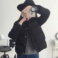 羽绒服 新品女羽绒女短款小款棉袄冬季2018新款潮韩版百搭棉衣外套 XS 建议85-95斤