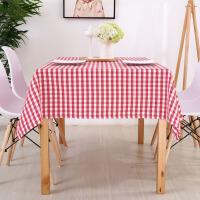 现代简约布艺格子桌布防水餐桌布长方形小清新棉麻茶几布台布定制