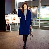chuu双面呢羊毛大衣女中长款2019秋冬季新款韩版简约保暖呢子外套