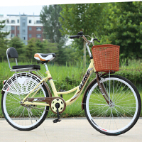 子车母子车22寸24寸双人自行车带小孩接送宝宝女式淑女单车