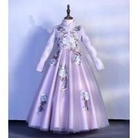 女童连衣裙秋冬儿童裙子过年装新年裙冬装洋气公主裙冬拜年服