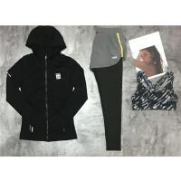 秋冬季女瑜伽服长袖健身房服速干显瘦运动跑步服三件套装