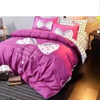 学生宿舍床三件套上下铺单人床1.2m1.5米四件套被套床单3套件定制
