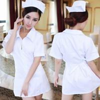 制服诱惑小护士服角色扮演白衣天使可爱拉链护士装 +白丝袜