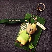 可爱校园卡多卡位饭卡学生门禁地铁公交卡套卡包钥匙扣小熊挂件