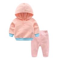 女童棉衣服2018新款婴儿卫衣套装洋气春秋季宝宝0岁1个月新生儿