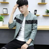 秋季新款男士外套韩版修身青年帅气机车PU皮衣学生夹克秋装潮