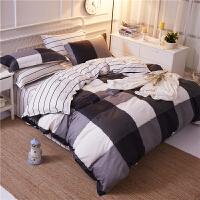 四件套男士4单人男生大学生宿舍床单被套三件套床上用品3
