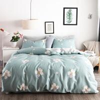 全棉床上四件套田园风纯棉床单被罩1.5/1.8m床公主风4件套 2.0m床【被套220*240cm 床单250*2