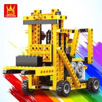 乐博士兼容其他积木电动机器人儿童益智玩具小颗粒拼装3-6岁