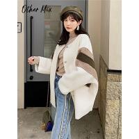 七格格冬季外套女2019新款韩版中长款仿皮草颗粒绒外套宽松大衣潮