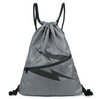 简易小双肩包轻便抽绳双肩包男女通用运动户外健身包 旅行背包 灰色